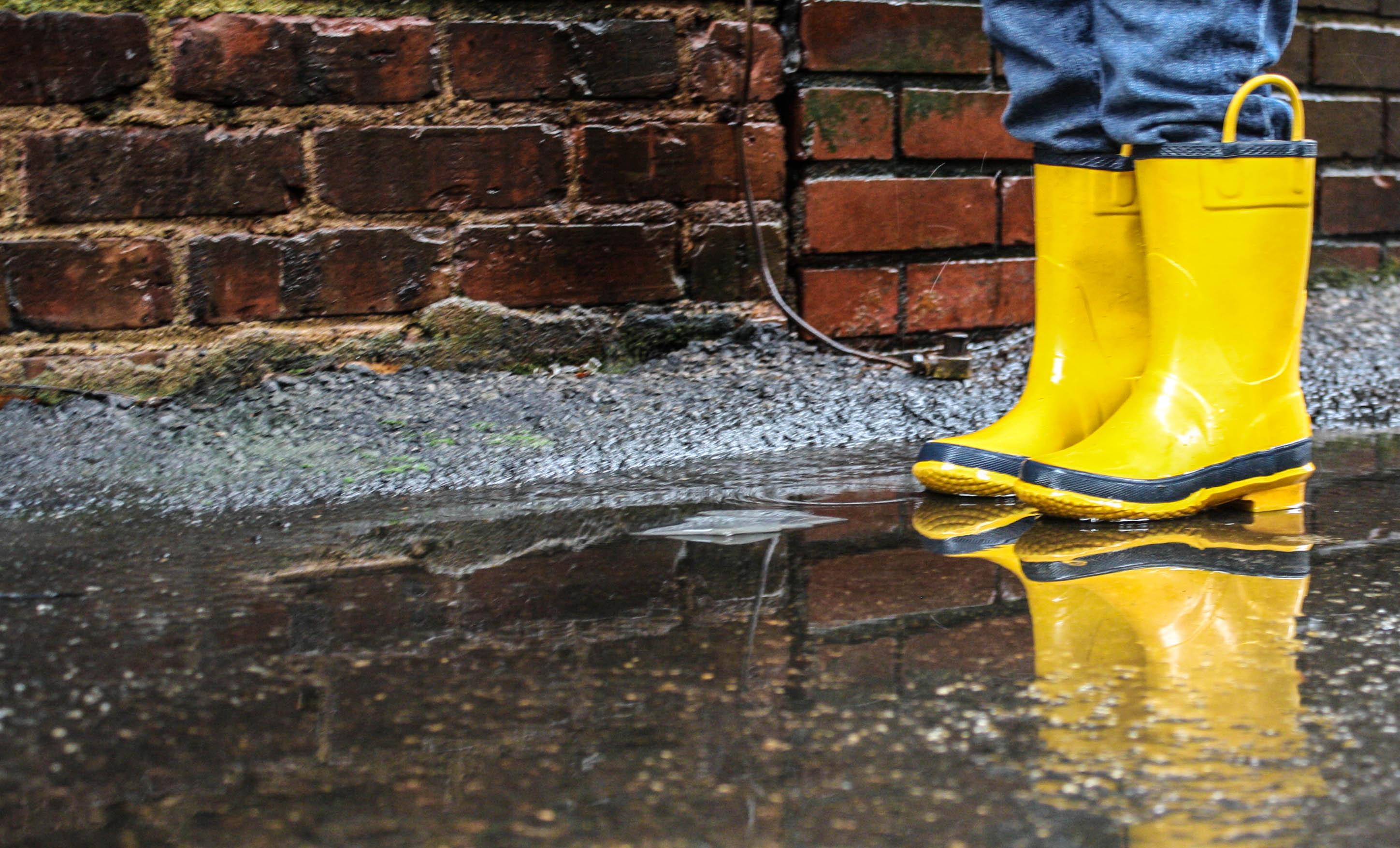 18 Months & Little Yellow Rain Boots   Spiral Macaroni